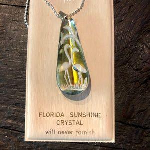 Vintage Florida Sunshine Crystal Necklace
